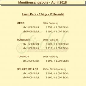 Munitionsangebote - April 2018